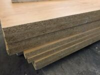 8 Chipboard sheets - ideal for racking, shelving, floor Job lot price - 38mm thick !