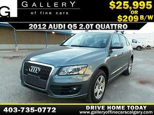 2012 Audi Q5 2.0T Premium AWD $209 bi-weekly APPLY NOW DRIVE NOW