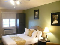 FULLY FURNISHED BACHELOR SUITES ~ ALL INCLUDED~ WEEKLY & MONTHLY