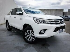 2016 Toyota Hilux GUN126R SR5 Double Cab White 6 Speed Sports Automatic Utility Canning Vale Canning Area Preview