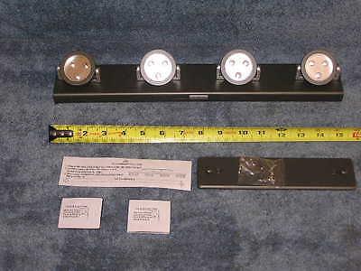 RV New Under Cabinet Closet Bay 4 Head Wireless LED Track Lighting Light Switch
