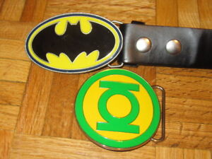 Batman & Green Lantern Metal Belt Buckles and Belt