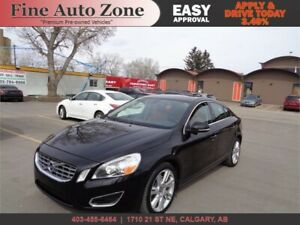 2012 Volvo S60 T6 AWD P.M.Leather Seats S.Roof B.Spot Bluetooth