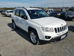 2012 Jeep Compass MK MY12 Sport (4x4) White Continuous Variable Wagon