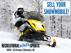 WE'RE BUYING 10 USED SNOWMOBILES -- SELL YOURS TODAY!