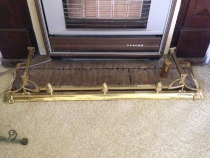 Solid Brass Fireplace Fender