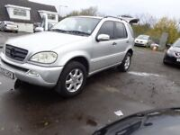 2002 Merc ML270 CDi SEVEN SEATER MOT'd MAY 2018 £1695