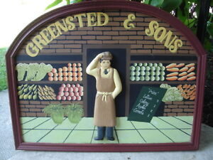 FIRST  $90 TAKES IT  ~ VINTAGE RARE GREENSTED & SONS SIGN  ~