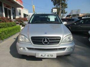 2002 Mercedes-Benz ML320 W163 MY2002 Classic Silver 5 Speed Automatic Wagon