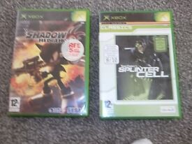 old ebox games 2x first xbox games ,NO TEXTS PLZ.