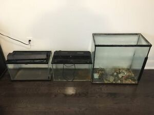 Three reptile/snake/ cages tanks aquariums for sale