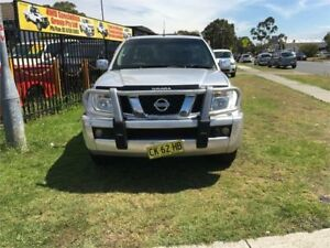 2007 Nissan Navara D40 ST-X Silver Automatic Utility Ingleburn Campbelltown Area Preview