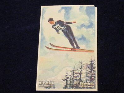 Vintage 1928 Alf Audersen Norway Olympics St Moritz Ski Jump Erdal Kwak   Q638