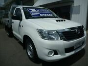 2014 Toyota Hilux KUN16R MY14 SR 4x2 White 5 Speed Manual Cab Chassis Edwardstown Marion Area Preview