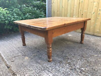 Pine coffee table - ready for shabby chic treatment
