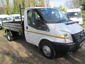 2013 Ford Transit 2.2TDCi TIPPER/PICK UP 6 SPEED 50,000 MILES 350 LWB NO VAT