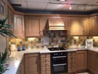Kitchen for sale. Kitchen storage, units, Sink, Cooker. Ex display. 60% off.