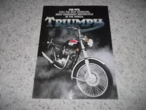 1978 Triumph Bonneville Brochure