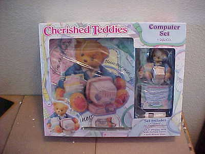 Terry Teddies - Cherished Teddies Computer Set Terry 686999 1999  New in Box Mouse Pad