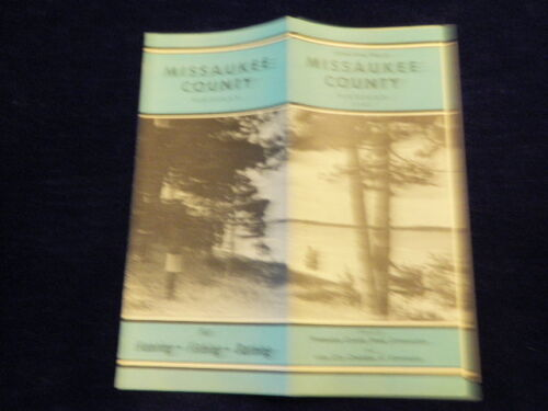 Vintage Official 1947 Missaukee County Michigan Road Map