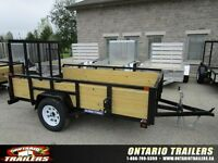 2015 Sure-Trac 6 X 10 FT 3-Board High Side Tube Top