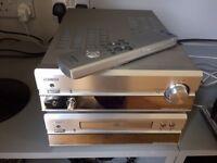 Denon PMA-201SA stereo amplifier and matching DCD-201SA CD player with remote control.