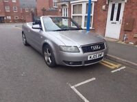 Audi A4 Cabriolet 2.5 TDI Sport Cabriolet Convertible CVT 2dr Black Leather Seats May Part Ex BMW