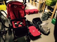 Bugaboo Cameleon pram (red) all the bits. Nursing Chair and other items for new baby. COLLECT ONLY