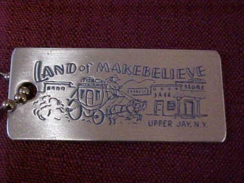 HTF Land of Makebelieve Upper Jay, N.Y.  Souvenir Key Chain