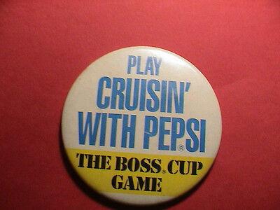 PEPSI PLAY CRUISIN THE BOSS CUP GAME SODA POP DRINKING BEVERAGE PIN PINBACK NICE