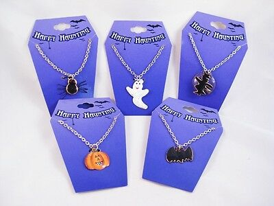 12 New Halloween Pumpkin Spider Ghost Bat Witch Necklaces #N2201](Spider Halloween Pumpkin)