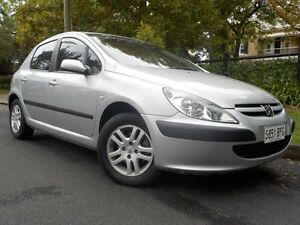 2002 Peugeot 307 2.0 HDI Silver 5 Speed Manual Hatchback Manningham Port Adelaide Area Preview