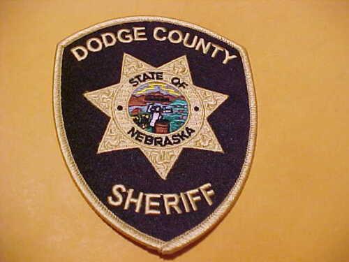 DODGE COUNTY NEBRASKA POLICE PATCH SHOULDER SIZE UNUSED
