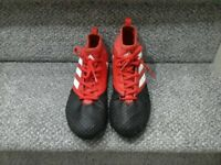 ADIDAS KIDS ACE 17.3 FG boots - RED/WHITE/CORE BLACK Size UK 5.5. EXCELLENT CONDITION - LIKE NEW