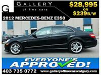 2012 Mercedes E350 BLUETEC $239 bi-weekly APPLY NOW DRIVE NOW