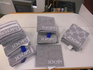 Joop! Handtuch 50 x 100cm Classic Doubleface 1600 FB 76 Silber