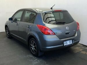 2008 Nissan Tiida C11 MY07 ST Grey 6 Speed Manual Hatchback Mount Gambier Grant Area Preview