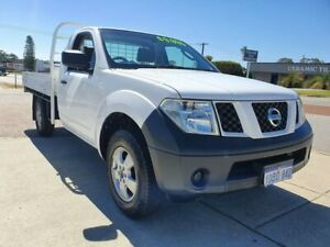 2009 Nissan Navara D40 RX (4x4) White 6 Speed Manual Cab Chassis Wangara Wanneroo Area Preview