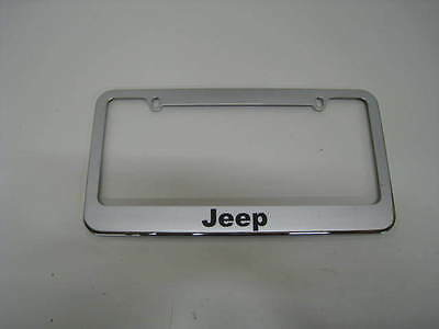 JEEP  stainless steel license plate frame ALL MODELS  FREE 2 CAPS