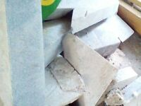 PAVING SLABS AND OTHER BUILDING MATERIALS TO GIVE AWAY!