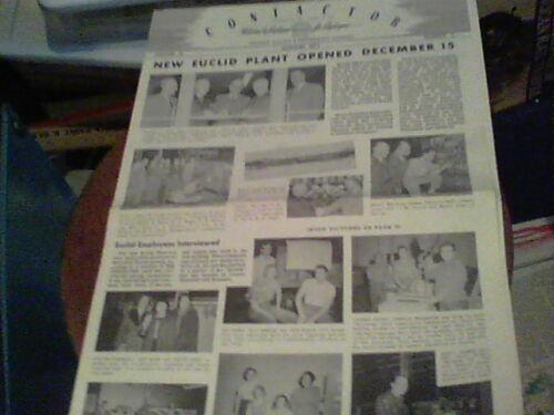 Jan 1952 Contactor Reliance Electric newsletter Ashtabula New Euclid Plant, Danc