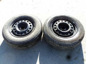 2 Firestone Tires with Rims for Toyota Sienna
