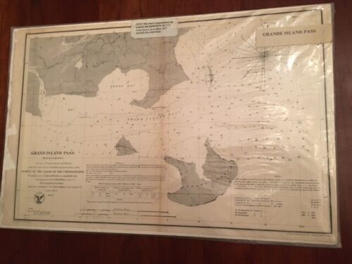 RARE 1857 Grand Island Pass, MISSISSIPPI, Trigonometrical Survey Coast U. States