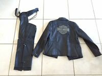 Ladies HD Leather Jacket and Chaps
