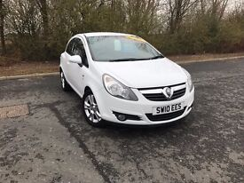 2010 VAUXHALL CORSA 1.2 SXI WHITE PETROL IDEAL FIRST CAR MUST SEE 70,000 MILES £3495 OLDMELDRUM