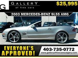 2003 Mercedes SL55 AMG CONV. $25995 ONLY! APPLY NOW DRIVE NOW