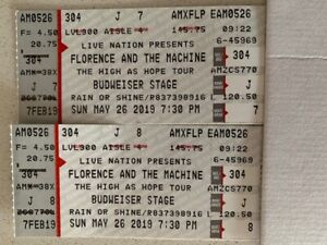 Florence and the Machine tickets Bud Stage 185.00 ea.