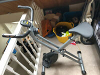 V-Fit Folding X Frame Magnetic Exercise Bike