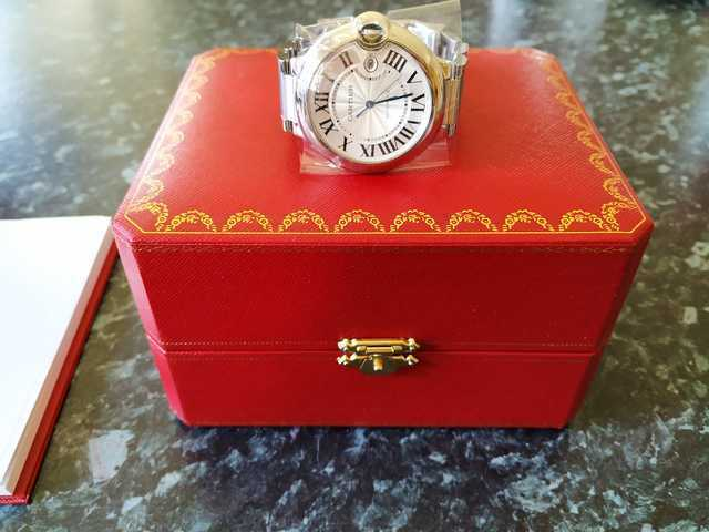Cartier Ballon Bleu Wrist Watch for Unisex – Silver (W69011Z4) - watch picture 1