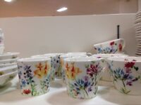 28 Piece Marks and Spencer 'Spring Meadow' China Dinner Set Crockery VGC £50 (Cost over 230!)